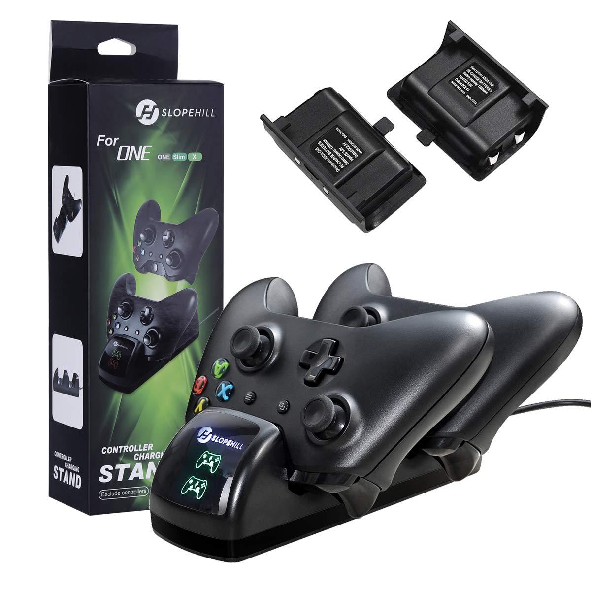 Slopehill - Cargador para mando de Xbox One, con 2 baterías ...