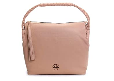 aa97f0bc2 Image Unavailable. Image not available for. Color  Tory Burch 52700 Devon  Sand Taylor Leather Hobo