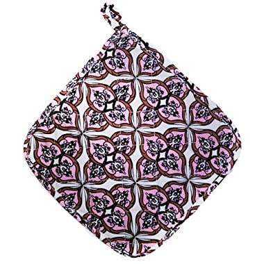 Two Lumps of Sugar Mosaic Pink Potholder
