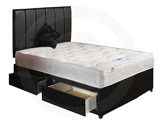 mattress headboard. orthomedic divan bed with mattress, headboard and 2 drawers - small double 4\u00270 mattress m