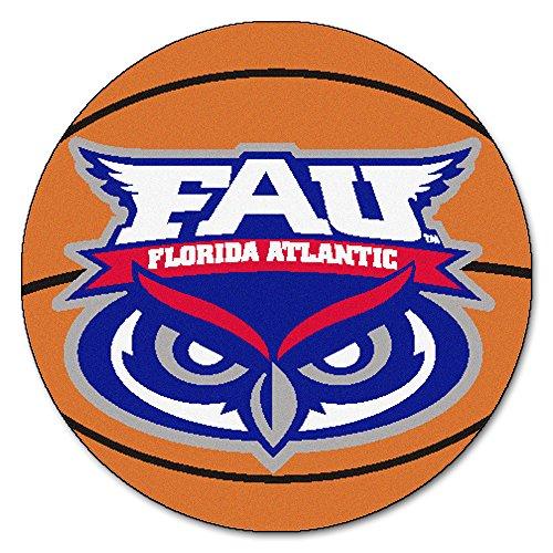 Fanmats Florida Atlantic University (FANMATS NCAA Florida Atlantic University Owls Nylon Face Basketball Rug)
