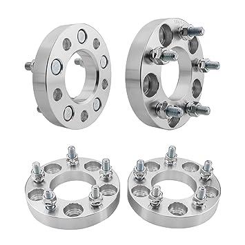 4 adaptadores de espaciador de rueda Hubcentric de 25 mm, 5 x 4,5