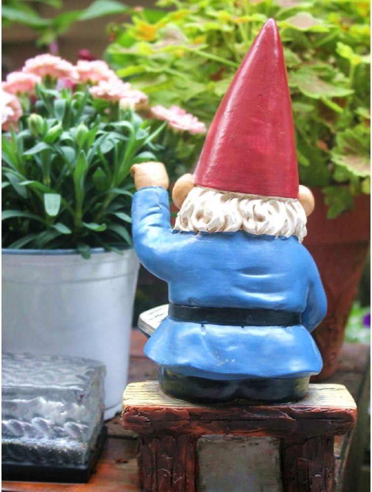 bunt HomDSim Gartenzwerg in lesenden Zwergen 24,1 cm lustige Rasen-Ornamente und Statuen Polyresin
