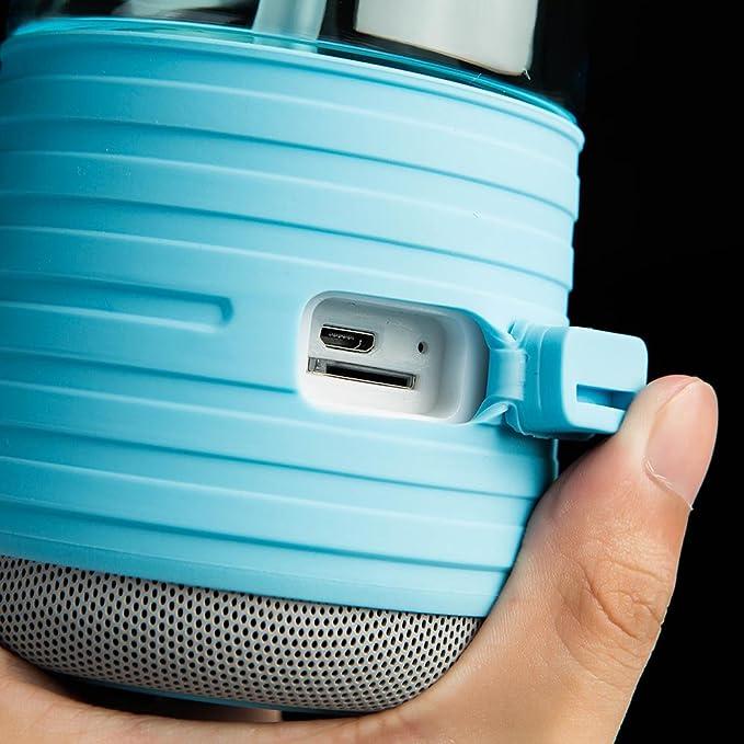 Lixada 450 Creative 2-en-1 BT botella de agua altavoz recargable inalámbrica botella de altavoz para deportes camping: Amazon.es: Deportes y aire libre