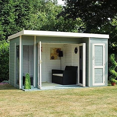 Nova 12 x 8 Cambridge verano casa con Side cobertizo - Entrega rápida verano Casas - Verano casas: Amazon.es: Jardín