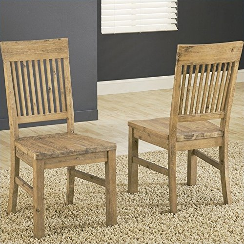 Modus Furniture 8FM266 Autumn Solid Wood Dining Chair, 2-Pack Craftsman Dining Room Sets