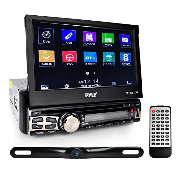 Car Audio System >> Pyle Car Stereo Receiver System Backup Camera Kit Touch Screen Headunit Radio Cd Dvd Player Bluetooth Wireless Streaming Hands Free Talking