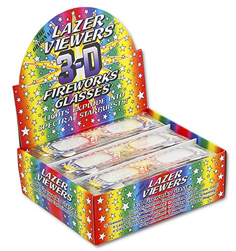 Rainbow Symphony 3D Fireworks Glasses Laser Viewers - 12 Boxes of 50 Pieces Each by Rainbow Symphony (Image #3)