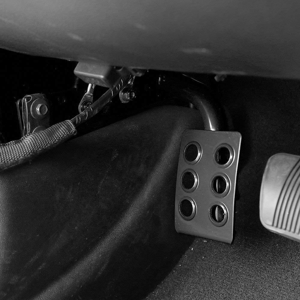 pour Focus MK2 MK3 Kuga Escape Voiture Housse de Coussin /à P/édale Acc/él/érateur Inoxydable dembrayage de Frein en Acier Inoxydable avec Style en Caoutchouc Antid/érapant L/éger et Robuste