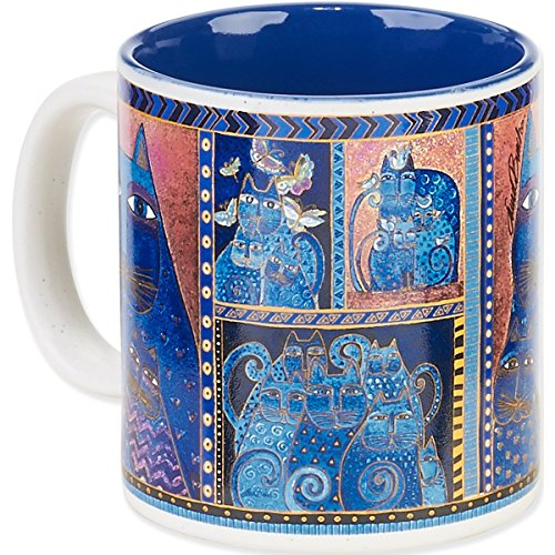 Laurel Burch Artistic Mug Collection, Indigo Cats Portrait