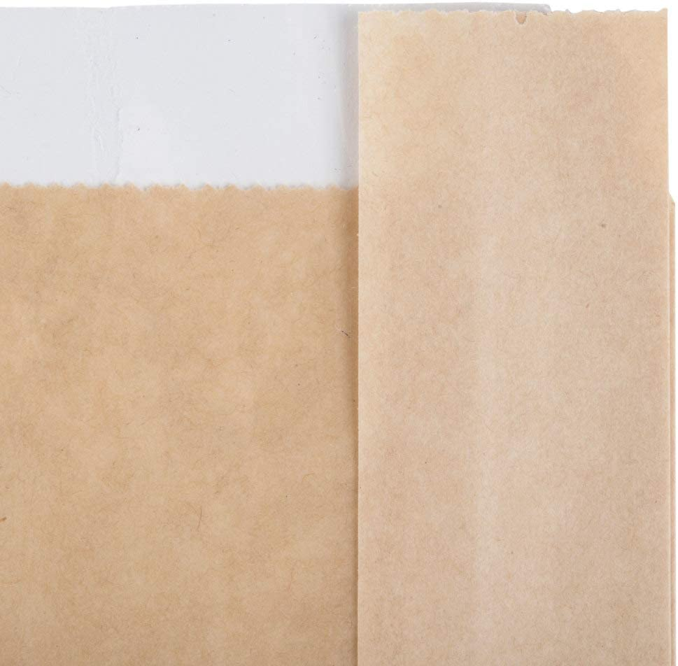 5 x 7 Brown Kraft Paper Bags - Cookie Bags- Pastry Bags- Bakery Bags- Paper Treat Bags- Mini Paper Bags- Trail Mix Bags 100 Bakery Bag with Window for Cookies Or Other Pastries