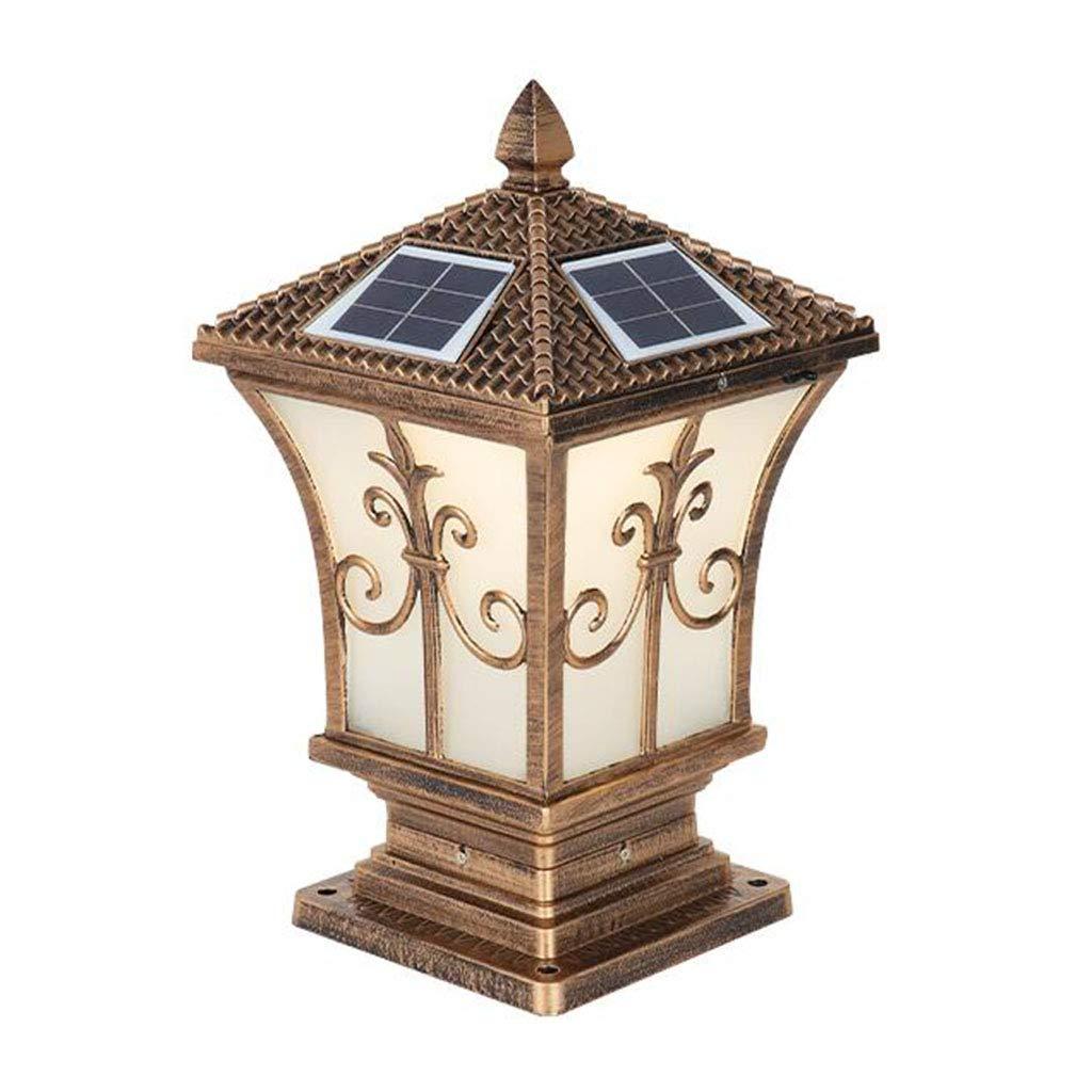 置物ライト ピラーランプソーラーコラムヘッドランプピラーウォールランプ防水ランプガーデンヴィラ屋外ヨーロッパ屋外ゲートガーデンランプ (Color : Brown, Size : 31*58cm) B07PBZVPQR Brown 31*58cm