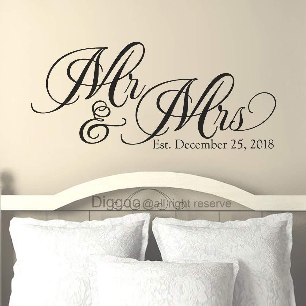 Amazon com custom bride groom wall sticker mr and mrs