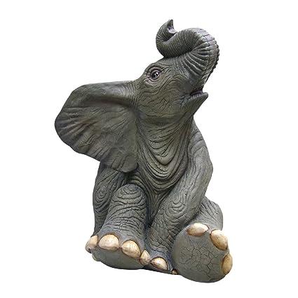 Design Toscano Sitting Baby Elephant Statue