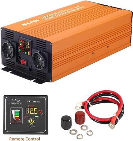 Sug 2000w Dc 12v Auf Ac 220v 230v Wechselrichter Reiner Sinus Spitzenwert 4000w Spannungswandler Power Inverter Pure Sine Wave Mit Fernbedienung Auto