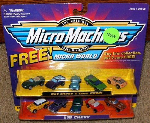 Micro Machines Chevy #19 Collection w/5 Bonus Cars ()