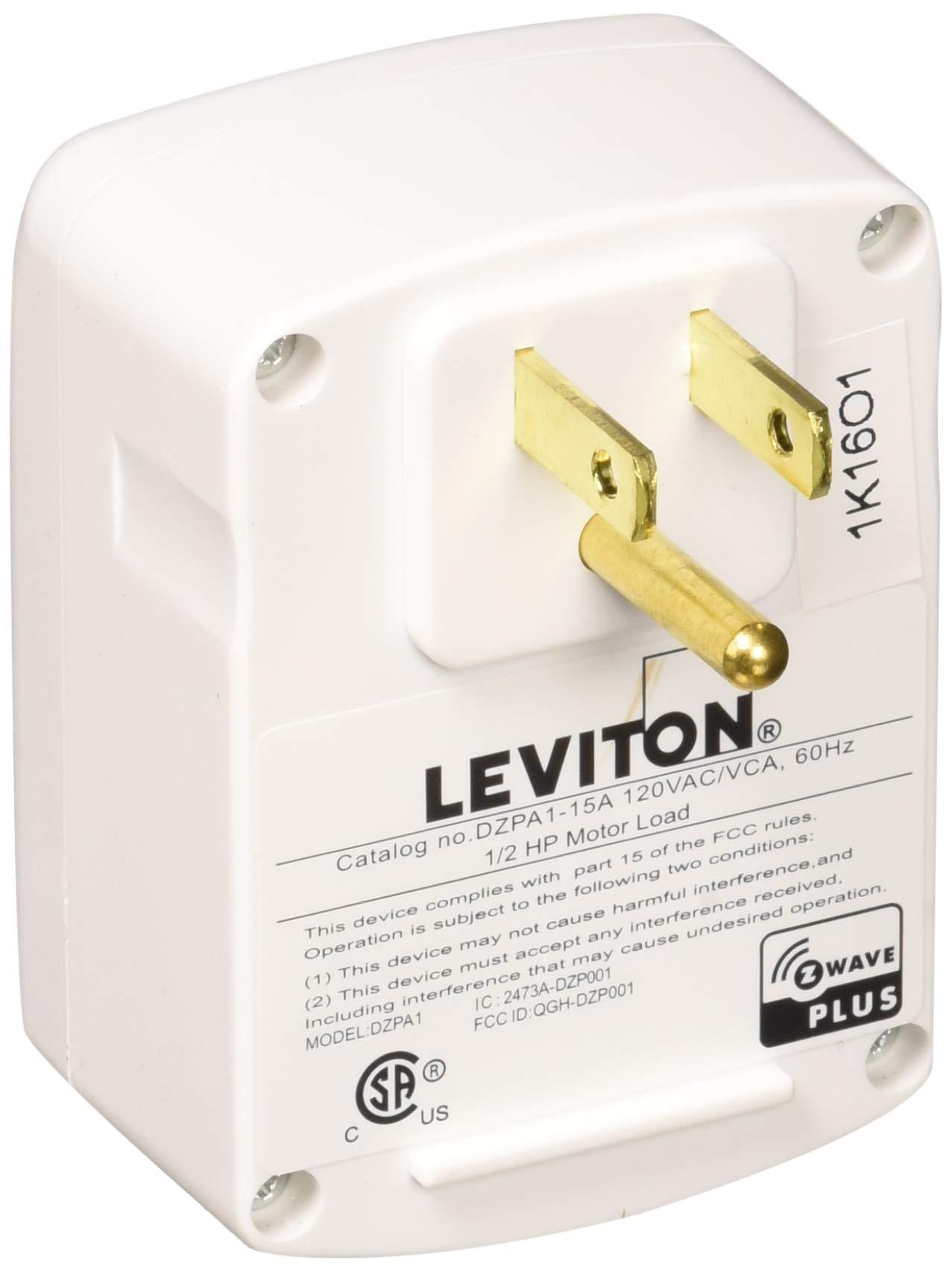 Leviton R51-DZPA1-1RW Module Appliance Plug-in, Clear