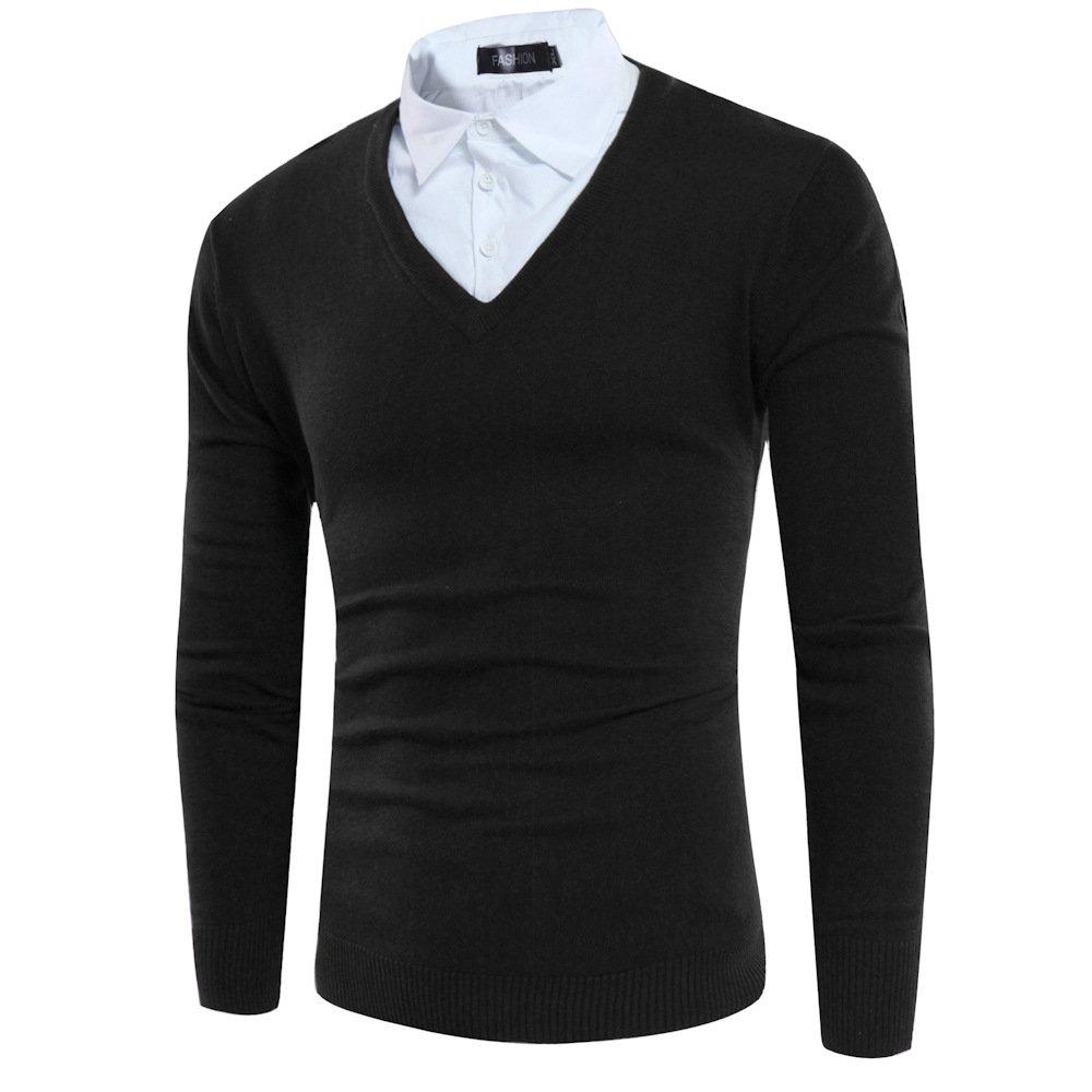 HY-Sweater Pullover Herren Kapuze Zwei Pullover Herbst schlank mit mit mit Langen Ärmeln B077J1SQHH Jacken Einfach zu bedienen f472b1