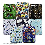 LittleBloom, Reusable Pocket Cloth Nappy, Fastener: Popper, Set of 8