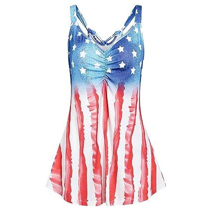 ab5acfbdaf0 Amazon.com: Midress Women's Summer Sleeveless V-Neck T-Shirt Tunic ...