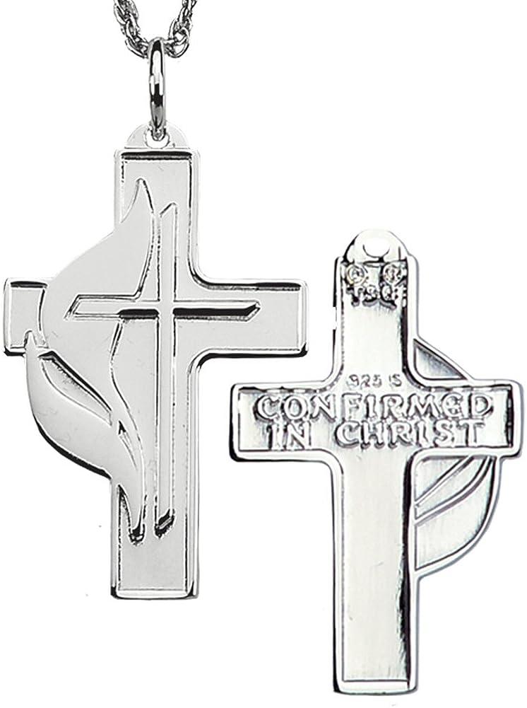 Sterling Silver 19x10mm Polished Methodist Cross Pendant