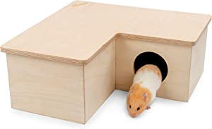 Niteangel Multi-Chamber Hamster House Maze: - Multi-Room Hideouts & Tunnel Exploring Toys for Hamster Gerbils Mice Lemmings