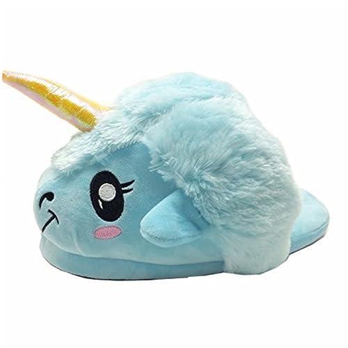 Zapatillas de Unicornio Dormitorio Zapatillas de Unicornio Lindo Zapatillas de Felpa ovejas de Dibujos Animados (