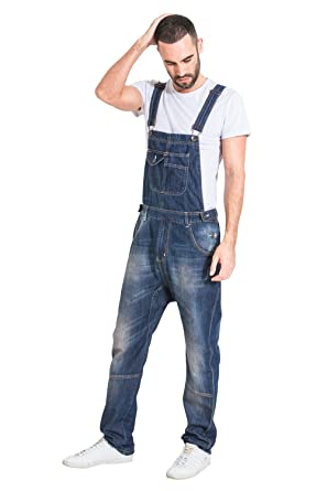 cc830e40350 Uskees Mens Relaxed Fit Garage Wash Dungarees Quality Denim Bib Overalls  DANNY1NEWDARK  Amazon.co.uk  Clothing