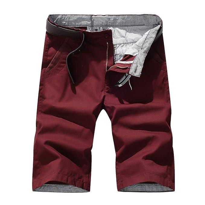 Hombres Pantalones Cortos Deporte Casuales Pantalón Chandal de ...