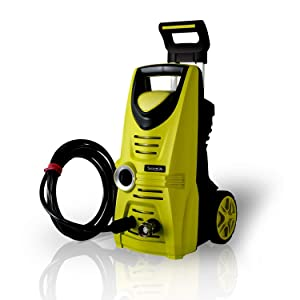 Serenelife Electric Pressure Washer - Powerful Heavy Duty 1520PSI Manual Adjustable High Low Cold Water Sprayer System & Rolling Wheels - Power Wash Spray Clean Concrete Driveway Car Home