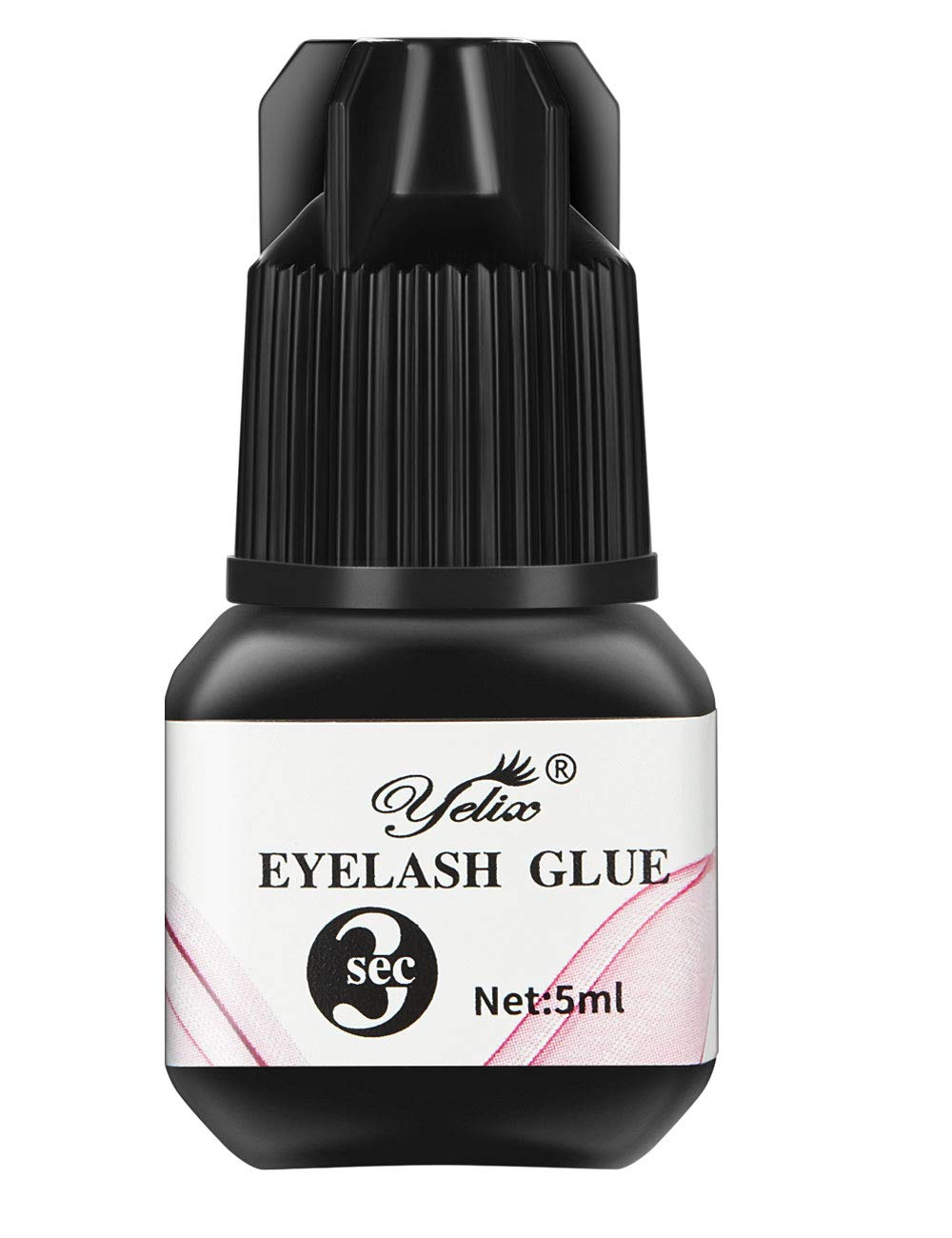 Professional Eyelash Glue - Extra Strong Bonding and Premium Adhesive for Individual Eyelash Extensions 1-2 Second Drying Time 6-7 Weeks Retention by Yelix (5ml)