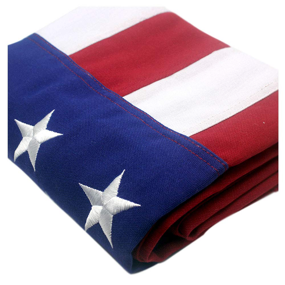 VSVO American US Flag 3x5 ft – 420D Spun Polyester Built for Outdoor. UV Protected - Embroider Stars - Sewn Stripes - Brass Grommets USA Flags