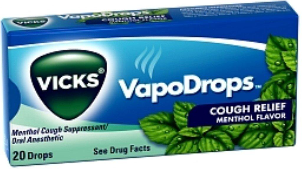 Vicks VapoDrops Cough Relief Drops Menthol Flavor 20 Each [case of 20] (Pack of 5)