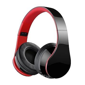 Jiebleum Auriculares de Diadema Cascos Bluetooth Inalámbrico con Micrófono Cascos Plegable Headphone Bluetooth Manos Libres y