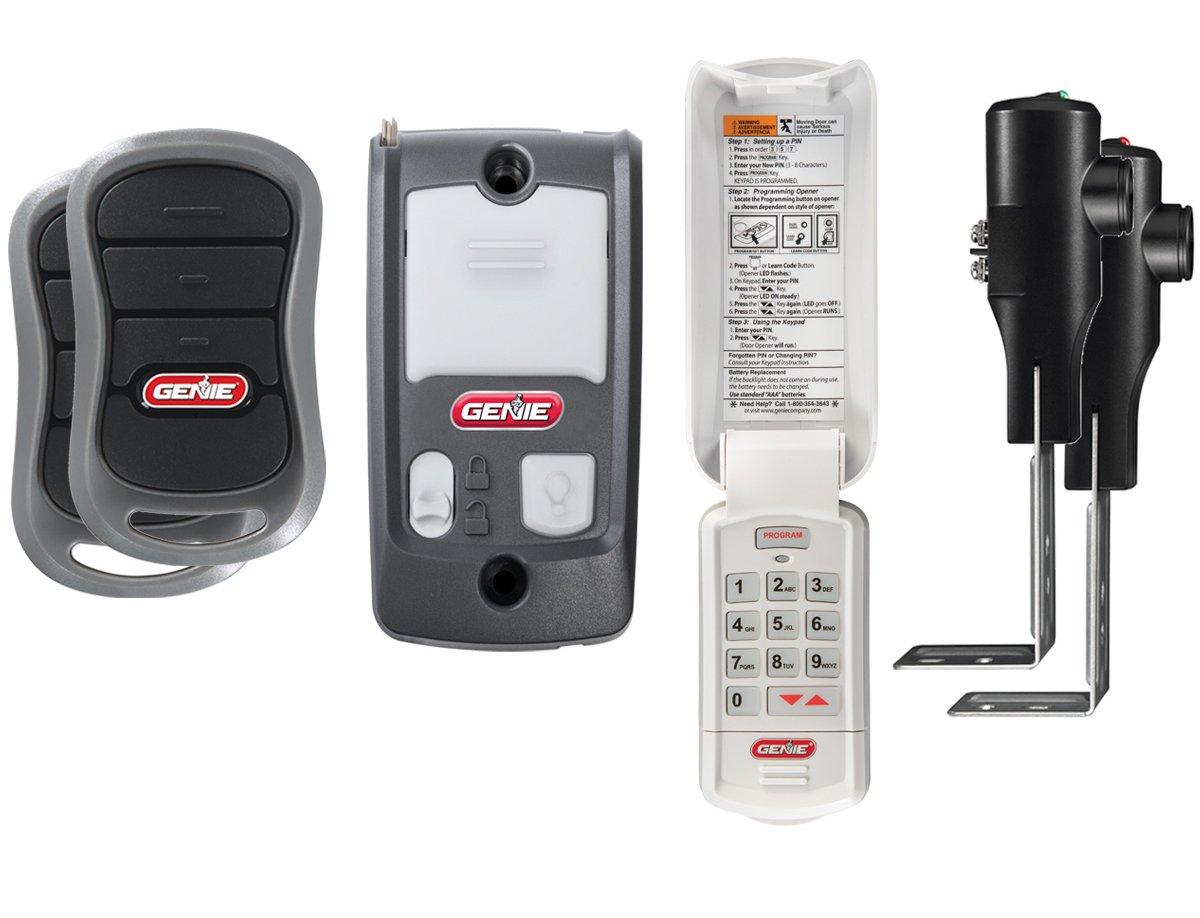 Genie Silentmax 1200 Garage Door Opener Hpc Power Plus Dc Motor Powermax Wiring Diagram Belt Drive System Includes 2 3 Button Remotes Wall Console Wireless Keypad