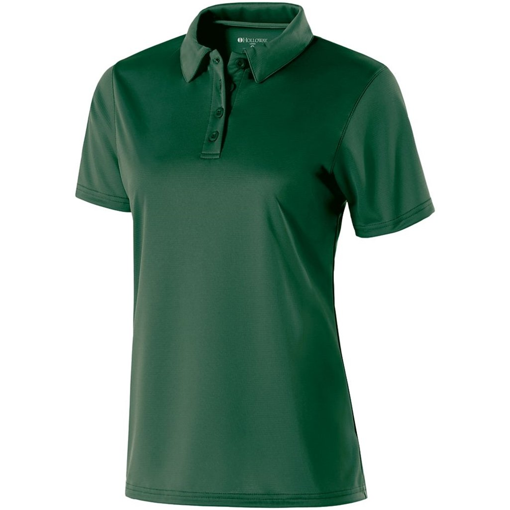 Holloway Ladies Dry Excel Shift Polo (XXX-Large, Forest) by Holloway