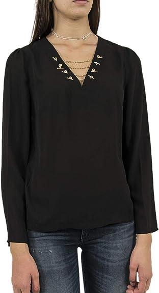 Blusa con Cadenas Doradas XS Negro: Amazon.es: Zapatos y complementos