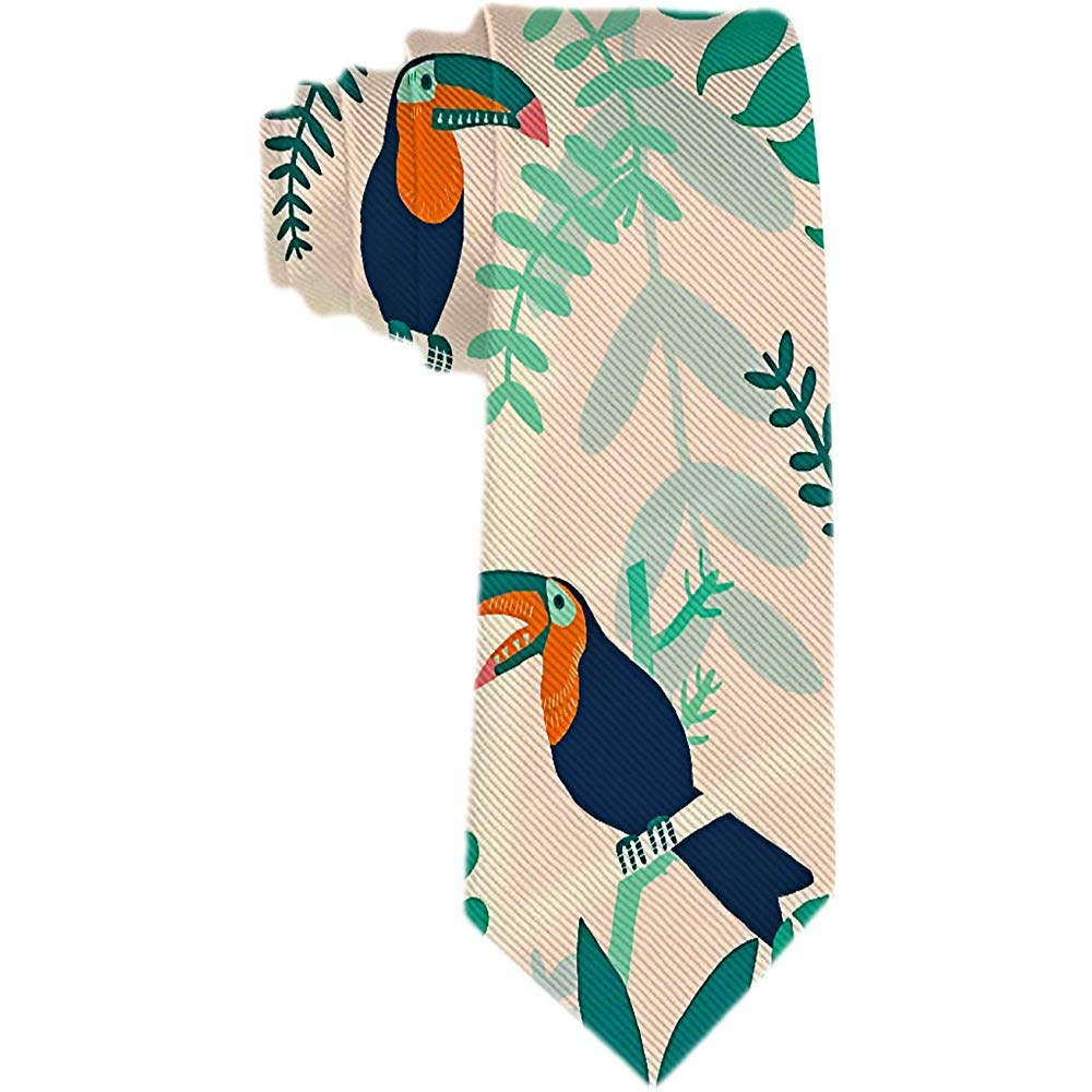 Corbata de hombre de dibujos animados Toucan en corbata de seda de ...