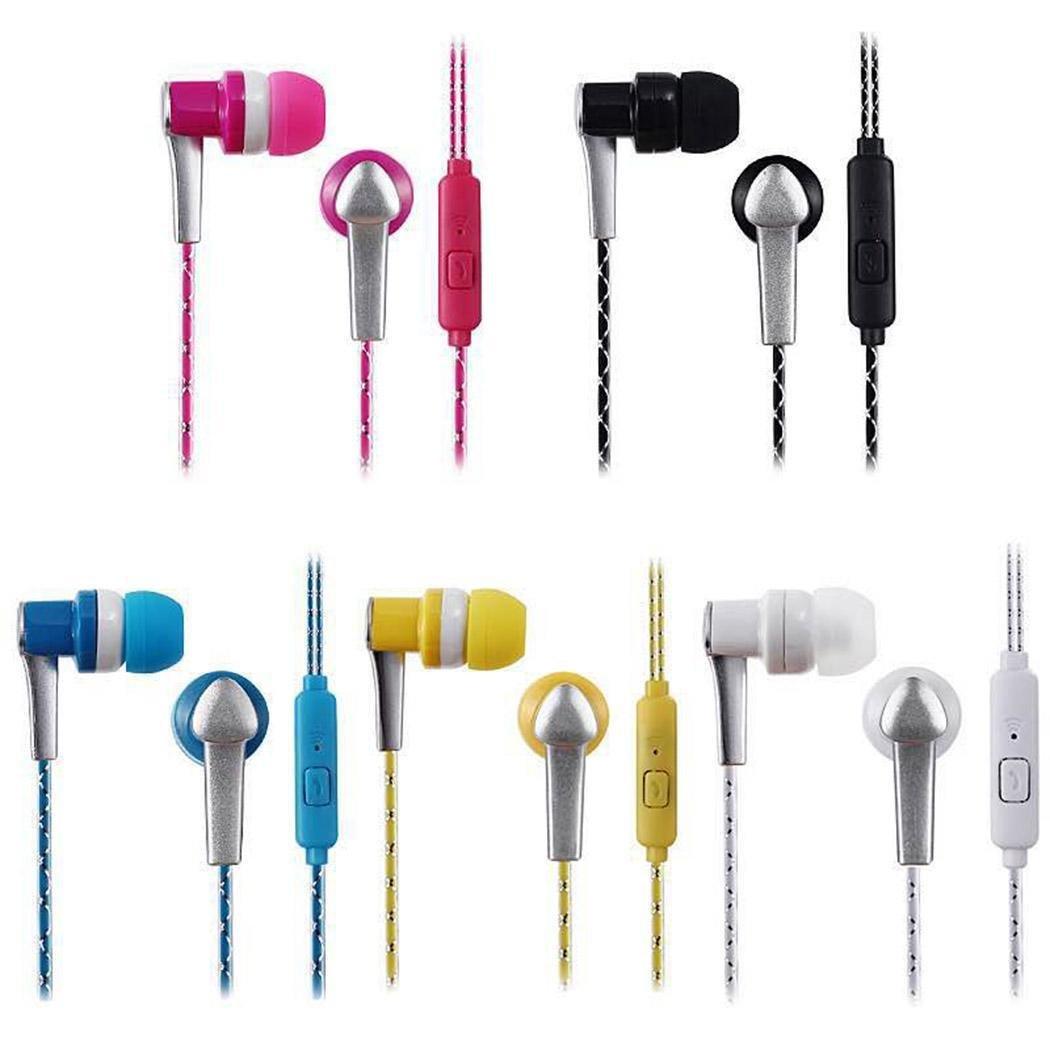 Chiak Unisex General Stereo in-Ear Earphones Earbuds Handsfree Wired Sport Headset Corded Headsets