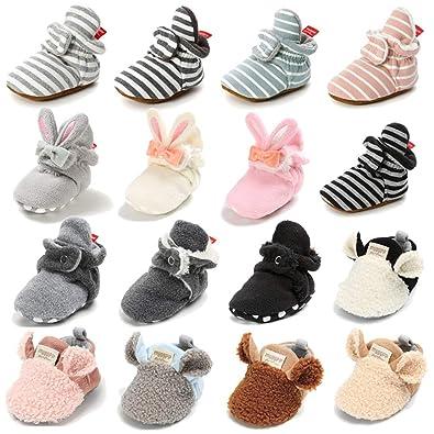 Amazon.com: Bebé Niños Niñas Cozy Fleece Botines con ...