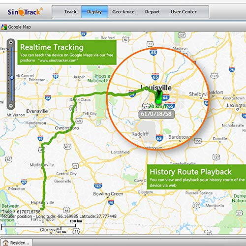 SinoTrack GPS Tracker Platform No Monthly Fee, Real-Time OBD