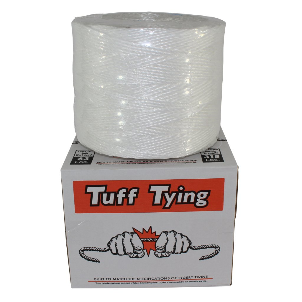 Polypropylene Twine (1 ply - 10500 feet) Tuff Tying Polypro Twine Industrial-Grade - SGT KNOTS - UV, Moisture, Chemical Protection - Commercial Bundling Packaging - Center-Pull Box Dispenser (White) by SGT KNOTS (Image #2)