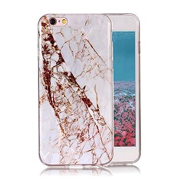 Funda Mármol para iPhone 6 Plus/6s Plus, Ronger Carcasa TPU ...