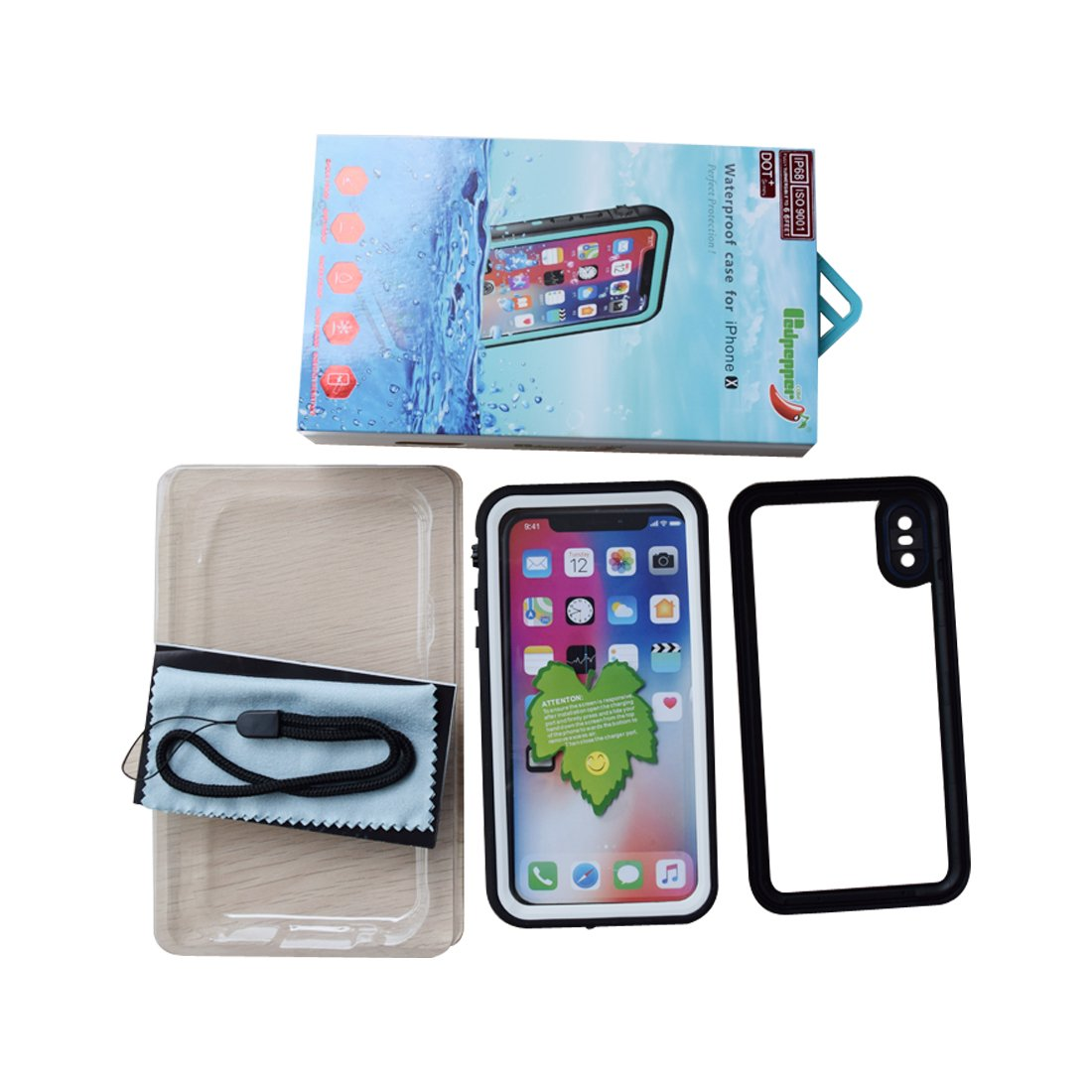 Amazon.com: Red Pepper Waterproof Case for iPhone XS Full Sealed Shockproof Case for iPhone X Pouch Shell with IP68 Certified Clear 5.8 inch (White): Cell ...