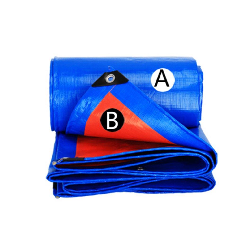 Teloni Telo Impermeabile Resistente all'Acqua, Parasole, parapioggia, Panno Isolante, plastica, Blu + Arancione, Spessore 0,28 mm, 160 g   m2 (Dimensioni   3  6)