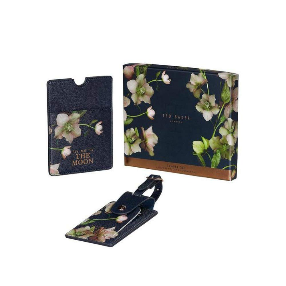 Ted Baker and Passport Set Luggage Tag, 18 cm, Arboretum TED513
