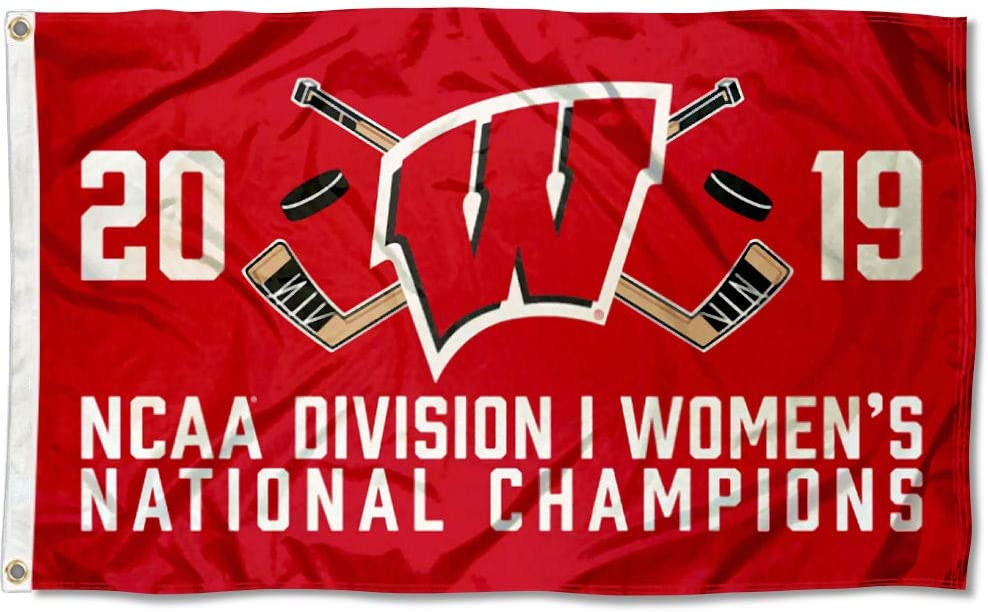 College Flags /& Banners Co Wisconsin Badgers 2019 Womens Hockey National Championship Flag