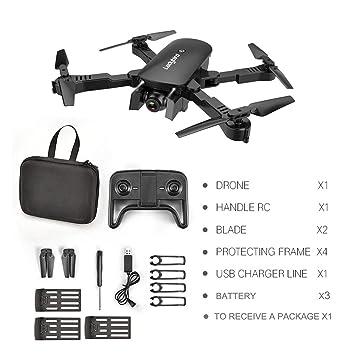 Dailyinshop R8 Drone Plegable Profesional HD 4K Antena de Cuatro ...