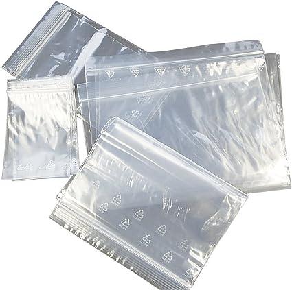 100 Fermeture Éclair Sacs en plastique clair transparentes taille 20 cm x 15 cm S