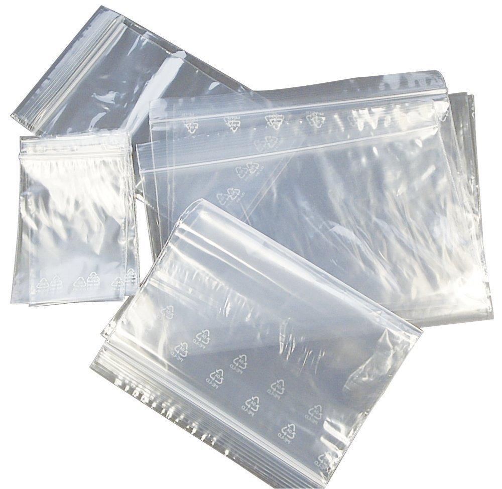 100PCS Resealable Ziplock Bags Clear Plastic Bag Reclosable Zipper Small Bags